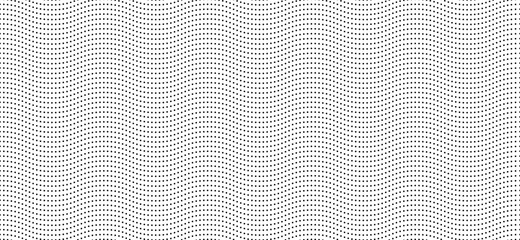 Wave dotted seamless background. Abstract pattern based on waved dots. Use it for any business and graphic backgrounds.