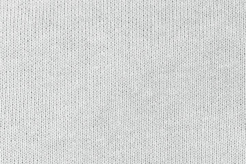 Photo sur Aluminium Tissu White natural texture of knitted wool textile material background. White cotton fabric woven canvas texture