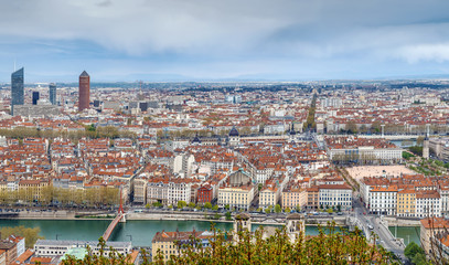 Fototapete - View of Lyon, Frane