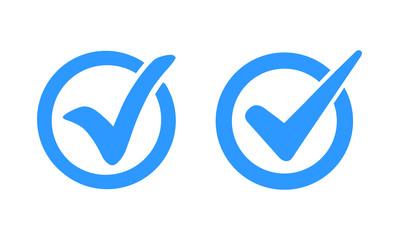 Check mark logo vector or icon vector illustration concept image icon