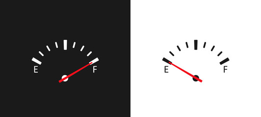 Full fuel gauge icon. vector illustration concept image icon