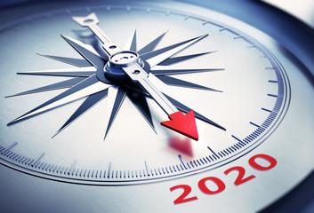 Silbergrauer Kompass - 2019 2020