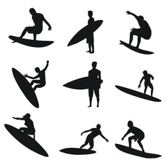 Surfing Silhouettes