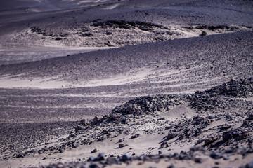 Papiers peints Aubergine Paysage de désert hostile le long de la Skeleton Coast en Namibie - Afrique