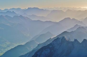 Berggipfel, Blick vom Säntis, Ostschweiz