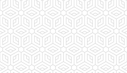 Poster Geometric The geometric pattern with lines. Seamless vector background. White and grey texture. Graphic modern pattern. Simple lattice graphic design.