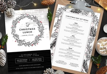 Decorative Christmas Menu Layout