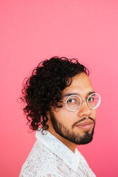 Portrait of Gay Latino man in studio environment