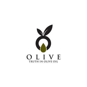 Olive oil logo design vector template