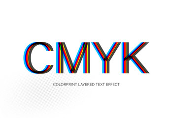 CMYK Offprint Color Text Effect