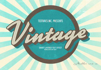 Vintage Sunburst Text Effect