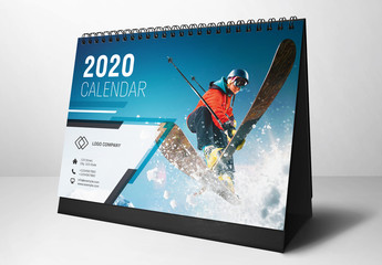 2020 Desk Calendar Layout
