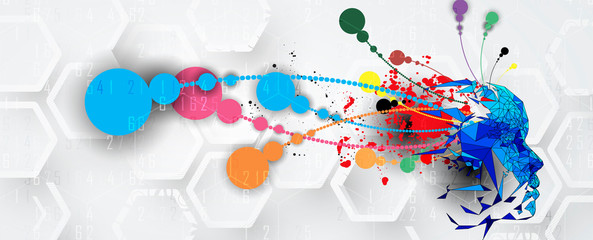 Wall Mural - Conceptual technology illustration of artificial intelligence