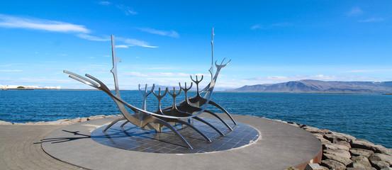 Reykjavík, Iceland. The Sun Voyager, sculpture by Jón Gunnar Árnason - June 2019