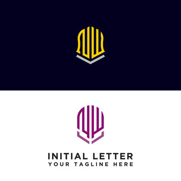 Set logo design, Inspiration for companies from the initial letters of the NW logo icon. -Vectors
