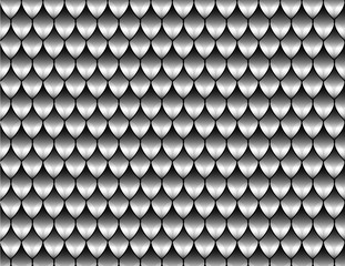 Reptile skin. Silver. Scales. Background. Vector. Pattern
