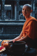 Portrait of Buddhist monk