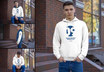 4 Hooded Sweatshirt Mockups