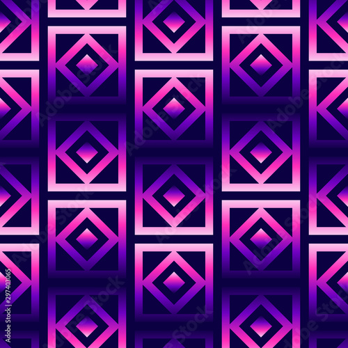 Geometric Oriental Grid Seamless Pattern Vector Wallpaper
