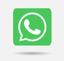 whatsapp logo button vector editorial