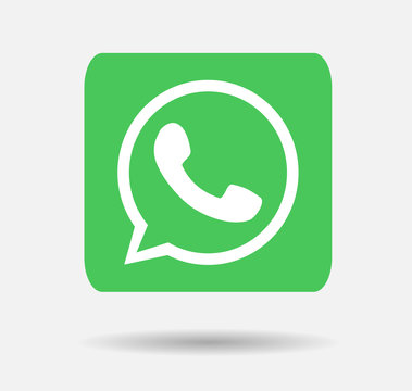 whatsapp logo button vector editorial