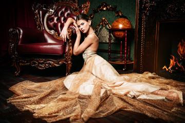fluffy long dress