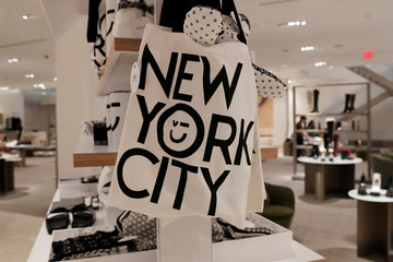 Bags are seen on display at the Nordstrom flagship store during a media preview in New York