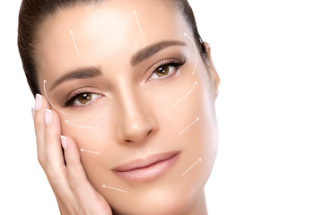 Beauty Face Spa Woman. Surgery and Anti Ageing Concept