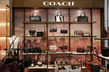Coach bags are seen on display at the Nordstrom flagship store is seen during a media preview in New York