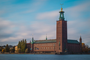 Beautiful Stockholm city hall castle