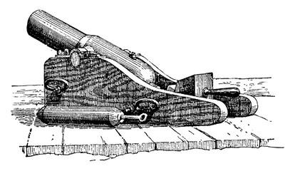 Lyle Gun, vintage illustration.