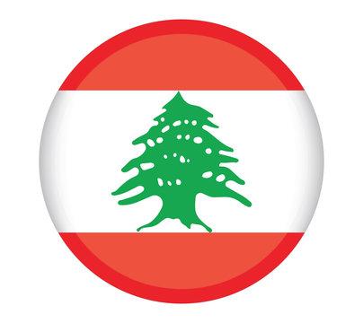 PrintNational Lebanon flag, official colors and proportion correctly. National Lebanon flag. Vector illustration. EPS10. Lebanon flag vector icon, simple, flat design for web or mobile app.