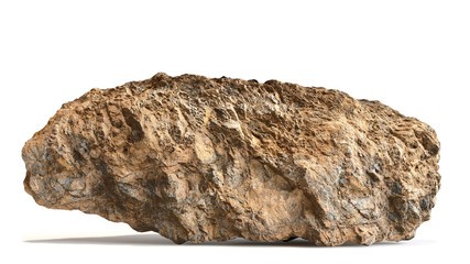 natural brown rock isolated with shadow on white background Fotobehang