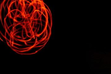 foto de larga exposicion realizada con una vela de mano
