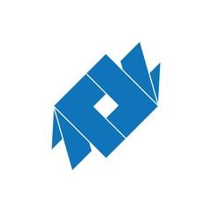 letter rl symbol simple geometric 3d logo vector