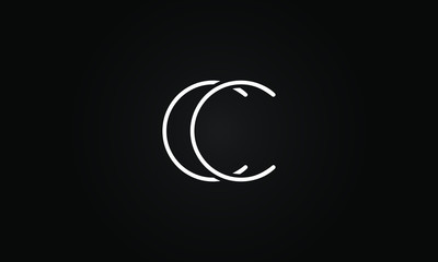CC initial based letter icon logo Unique modern creative elegant geometric fashion brands black and white color