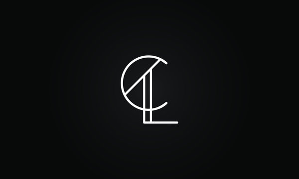CL OR LC initial based letter icon logo Unique modern creative elegant geometric fashion brands black and white color