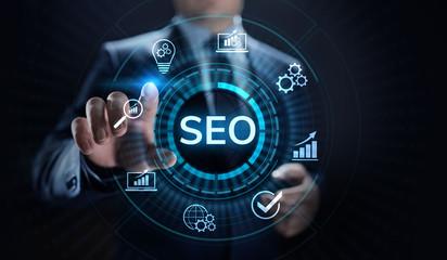 SEO Search engine optimisation digital marketing business technology concept.