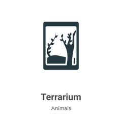 Terrarium vector icon on white background. Flat vector terrarium icon symbol sign from modern animals collection for mobile concept and web apps design.