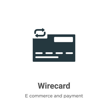 Wirecard vector icon on white background. Flat vector wirecard icon symbol sign from modern e commerce and payment collection for mobile concept and web apps design.