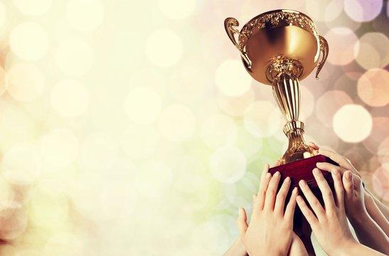 Trophy winning award sport success achievement cup
