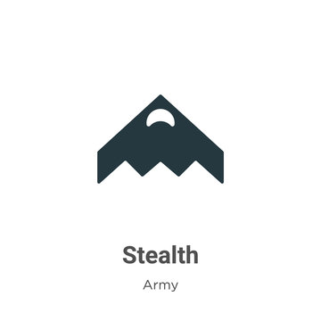 Stealth vector icon on white background. Flat vector stealth icon symbol sign from modern army collection for mobile concept and web apps design.