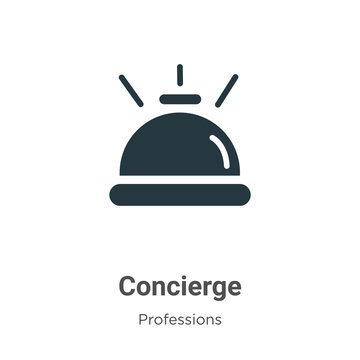 Concierge vector icon on white background. Flat vector concierge icon symbol sign from modern professions collection for mobile concept and web apps design.