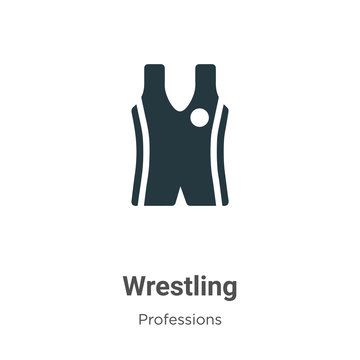 Wrestling vector icon on white background. Flat vector wrestling icon symbol sign from modern professions collection for mobile concept and web apps design.