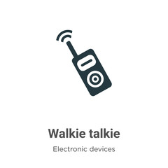 Walkie talkie vector icon on white background. Flat vector walkie talkie icon symbol sign from modern electronic devices collection for mobile concept and web apps design.
