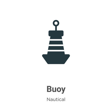 Buoy vector icon on white background. Flat vector buoy icon symbol sign from modern nautical collection for mobile concept and web apps design.