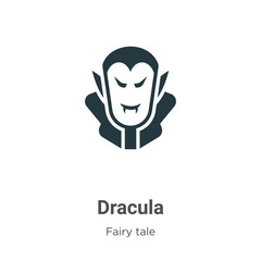 Dracula vector icon on white background. Flat vector dracula icon symbol sign from modern fairy tale collection for mobile concept and web apps design.