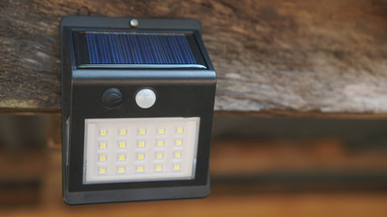 Solar cell and led light lamp with panel in. Outdoor LED Lighting Fotomurales