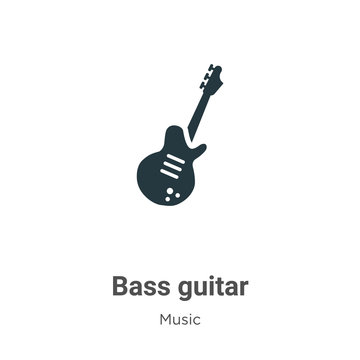 Bass guitar vector icon on white background. Flat vector bass guitar icon symbol sign from modern music collection for mobile concept and web apps design.