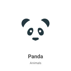 Panda vector icon on white background. Flat vector panda icon symbol sign from modern animals collection for mobile concept and web apps design.